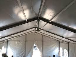 Roof Fan by Ceiling Fan Under Tent Event Structure Rental