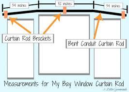 Rods For Bay Windows Ideas The Secret To Diy Bay Window Curtain Rods From Bay Window