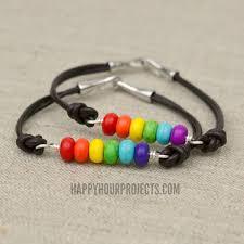 silver bead bracelet diy images Rainbow diy bead and leather bracelets jpg