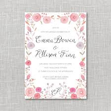 printable wedding invitation artwork by julianna swaney bright flowers printable wedding