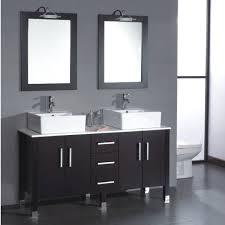 54 Bathroom Vanity 54 Inch Sink Wall Mounted White Finish Bathroom Vanity