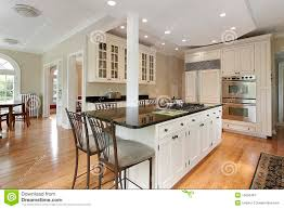 kitchen in new construction home royalty free stock photography