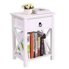 Nightstand With Shelf Night Stand Furniture Ebay