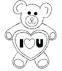 valentines day coloring pages bear love pictures of lovebirds