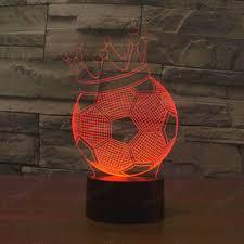 3d wall art nightlight football home decor ideas
