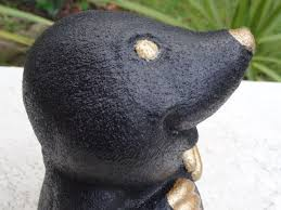 bargain garden antiques gilt bronze style mole home garden