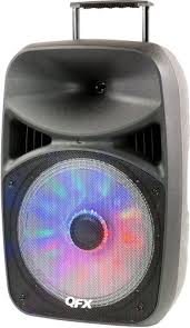 moonlight speakers qfx pbx 61156 battery powered bluetooth portable party speaker