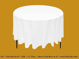 108 tablecloth on 60 table linen guide from always invited