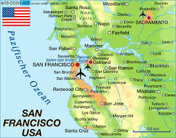 san francisco map of usa map of san francisco united states usa map in the atlas of