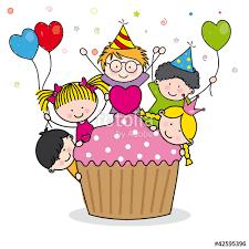 imagenes cumpleaños niños niños celebrando un cumpleaños stock image and royalty free vector