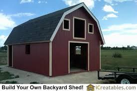 Gambrel Roof Barns Barn Shed Plans Classic American Gambrel Diy Barn Designs