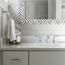 gray chevron bath vanity mirror design ideas