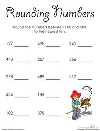 rounding whole numbers in the hundreds worksheet education com