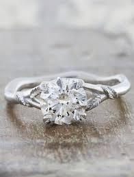 engagement bands rings images Pembroke leaf prong diamond engagement ring rose gold ken dana jpg
