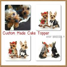wedding cake topper with dog madamepommcustomorder dog wedding cake toppers custom made