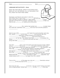 grammar mad libs worksheets language arts resources pinterest