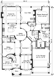 House Plans With Courtyard Mediterranean Style House Plan 4 Beds 3 50 Baths 4923 Sq Ft Plan