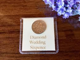 60th anniversary gift diamond wedding sixpence 60th wedding anniversary gift for