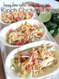 honey lime salsa verde ranch chicken tacos recipe salsa verde
