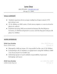 Skills Summary Resume Sample by 3 Free Baby Sitter Resume Samples In Word