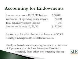 nonprofit accounting u0026 reporting for endowmentsnonprofit balance