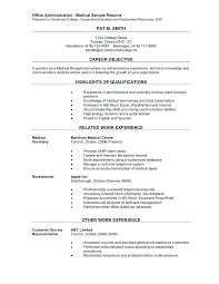 Unit Clerk Resume Sample 100 Medical Clerical Resume Medical Secretary Job Description