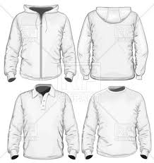 man u0027s sweatshirt jacket and hoodie vector clipart image 5254