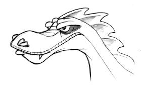 arrrggghhh another blog dragon head sketch