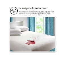 Waterproof Pads For Beds Mainstays Waterproof Fitted Vinyl Mattress Protector Walmart Com
