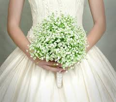 silk baby s breath wedding flowers bridal bouquet of baby s breath white and