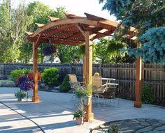 foreverredwood builds arched pergolas an wide range of arched