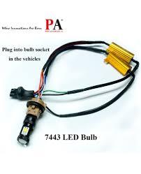 load resistors for led lights 2x led light load resistor adapter 7443 t20 50w 6 ohm fix hyper
