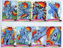 my little pony rainbow dash sketch cards by kapow2003 on deviantart