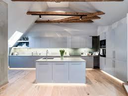modern attic appartment kitchen super vancy modern kitchen design