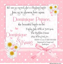 Bridal Shower Greeting Wording Polka Dot Daisy Bridal Invitation Blushing Bride Shower
