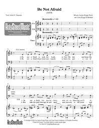 thanksgiving piano sheet music be not afraid holy sheet music