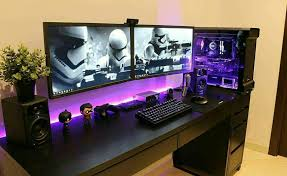 Desk For Pc Gaming Www Andromedacomputer Net Custom Pc Pinterest Gaming Setup