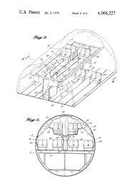 patent us4066227 mezzanine structure for wide bodied passenger