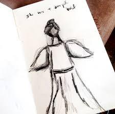 christytomlinson simple pencil sketches angel series