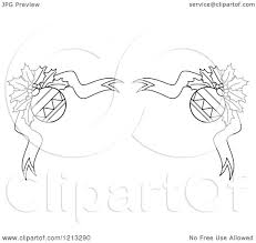 clipart of a black and white christmas holly and ornament border