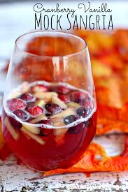 cranberry vanilla autumn punch drink