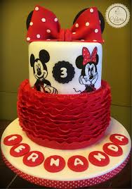 Red Minnie Mouse Cake Decorations Minnie Mouse Cake Valeria Cakes Repostería Creativa Valeria