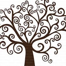 tree swirls gettin crafty tree silhouette finger