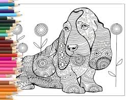 free printable zentangle coloring pages dog zentangle coloring page printable art hand made illustration