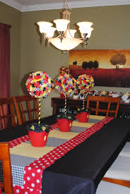 Decorating Dining Rooms Mickey Mouse Decorations Dining Room Made Table Runner And