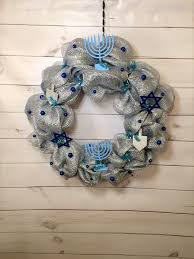 hanukkah wreath chanukah wreath hanukkah decor chanukah zoom