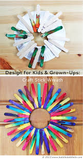 craft stick wreath stick wreath craft sticks and easy peasy