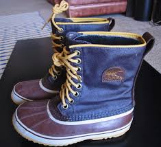 sorel men u0027s insulated waterproof boots brown gold yellow