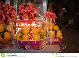 new years basket lucky orange basket gift stock image image of china 50557005