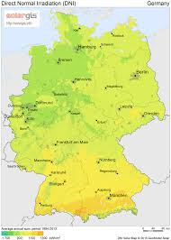 map of gemany powermarket solar market germany